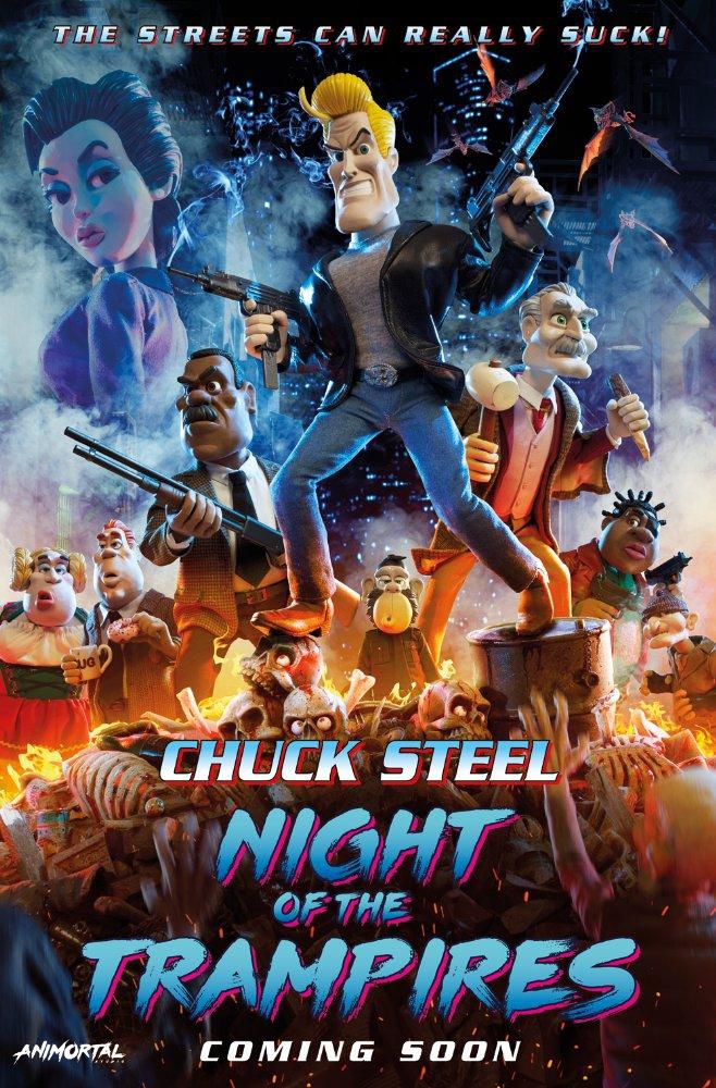 Смотреть трейлер Chuck Steel: Night of the Trampires (2017)
